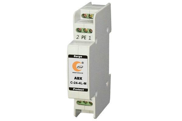 【产品概述】 C系列模块式信号浪涌保护器是依据IEC通讯电涌保护器的标准和YD标准设计,用以保护设备不受由于感应雷击而产生的过电压、浪涌电流、以及系统内部产生的过电压、浪涌电流对设备的损坏。该产品采用模块式设计,是一种多级防护电子浪涌保护器,适用范围广。适用于工业自动化控制系统模拟量信号、开关量信号、数据信号、通讯专线、遥测信号、遥控信号、数据通讯专线、仪器仪表等线路和设备的电涌保护.