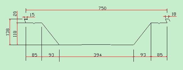 大跨度车载式无梁柱拱形屋面板成型机组