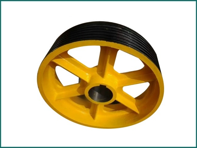 互生网站产 Mitsubishi elevator traction wheel , elevator pulley 610x5x14.jpg