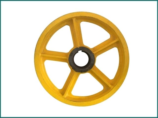 互生网站产 lg elevator wheel , Elevator traction sheave wheel.jpg