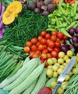 易受污染蔬菜展示