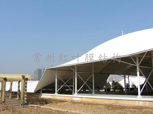 江苏苏浙皖边界市场扩建工程膜结构顺利竣工.jpg