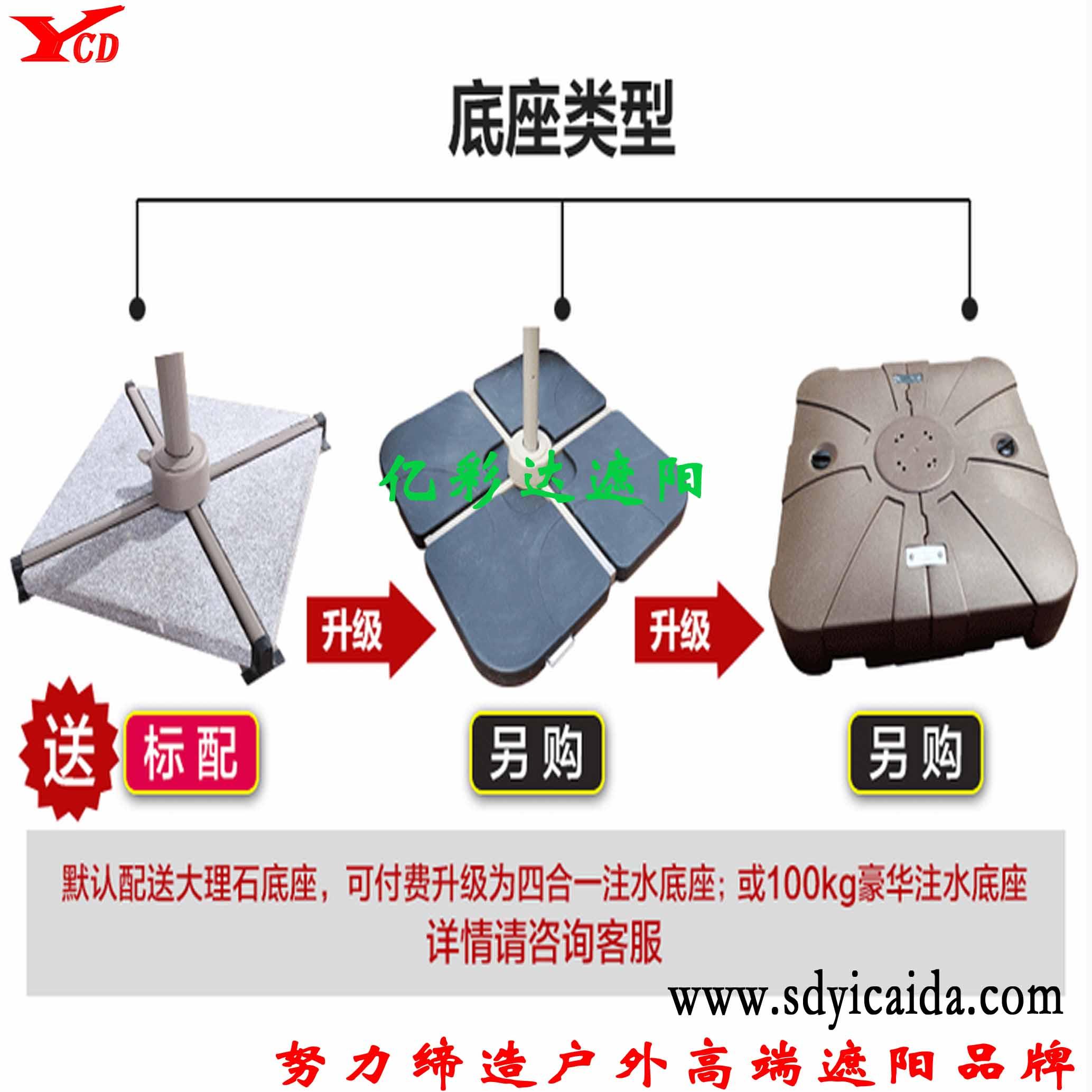 大罗马伞 遮阳伞-山东亿彩达遮阳节能科技有限公司