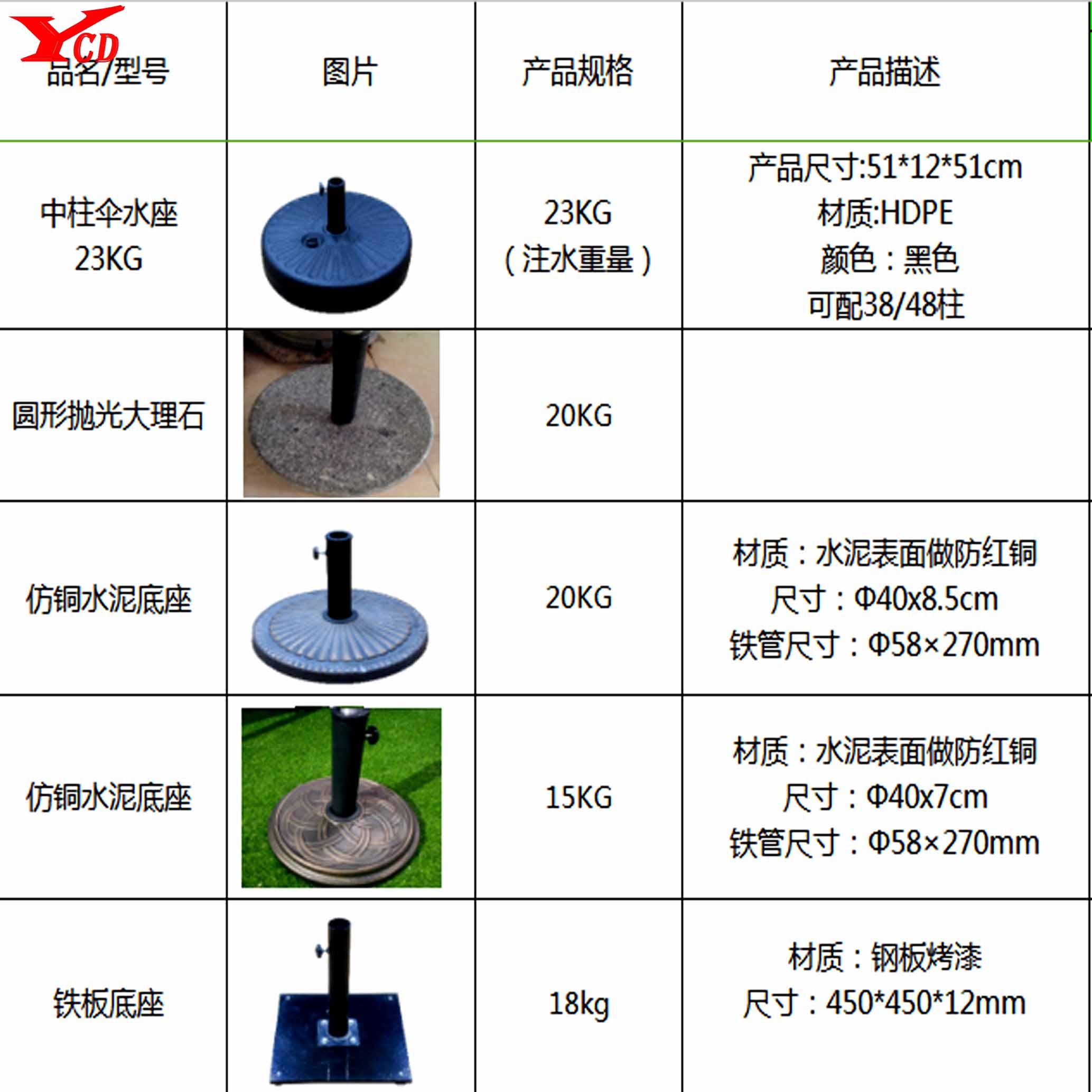 10款中柱伞|遮阳伞-山东亿彩达遮阳节能科技有限公司