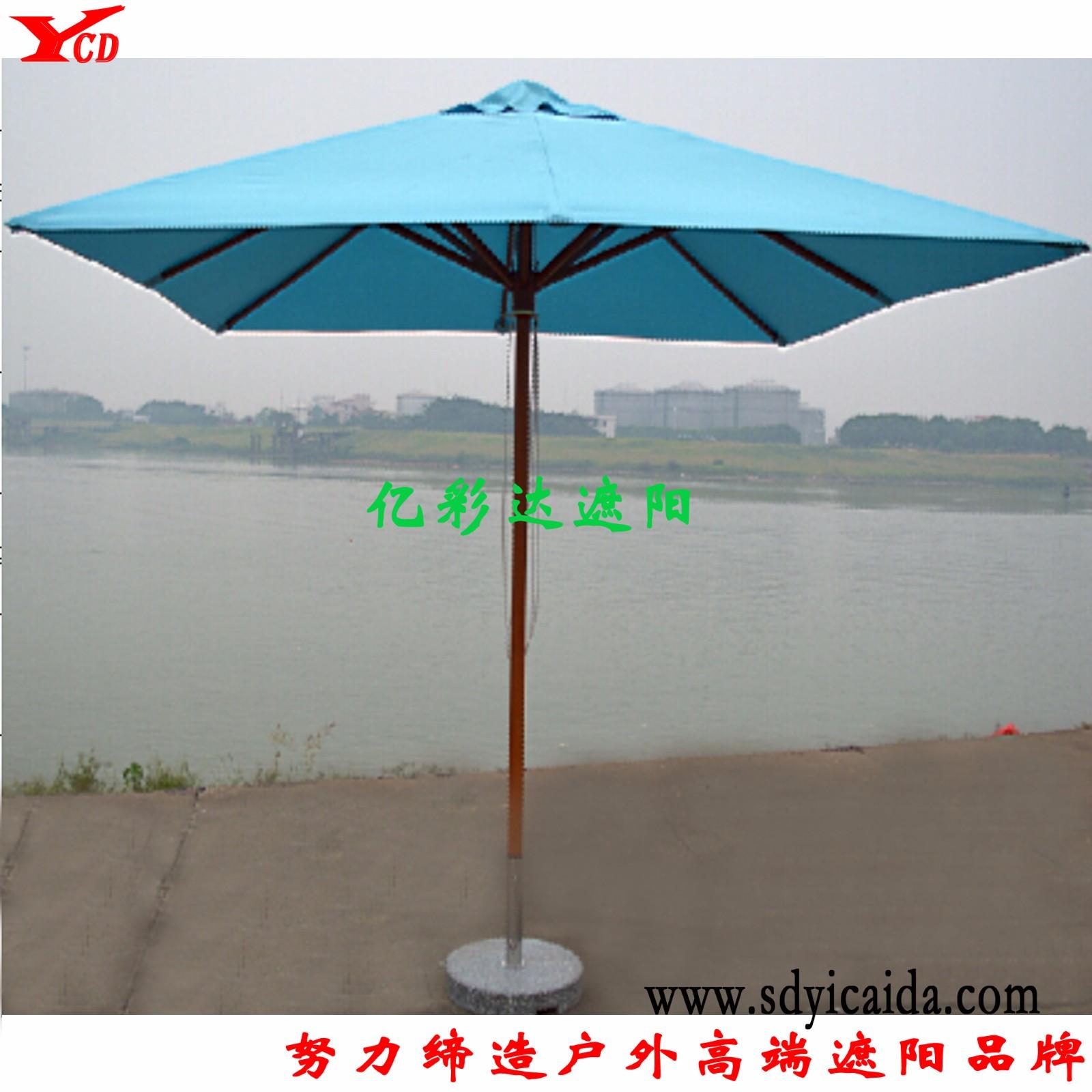 方形单顶木伞|遮阳伞-山东亿彩达遮阳节能科技有限公司