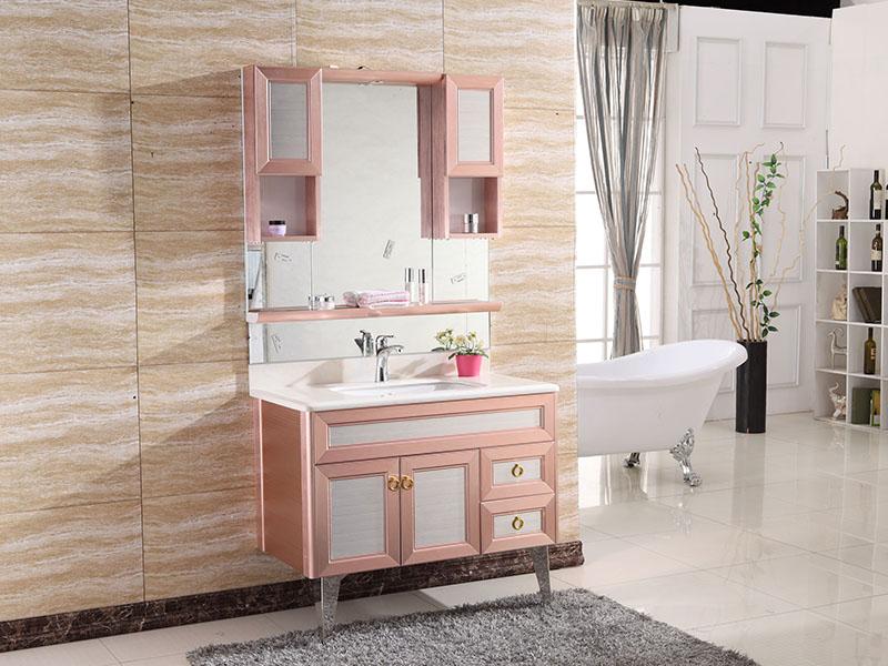 9003-2主柜(玫瑰金配亮光)|浴室柜系列-佛山市尚耀金属科技有限公司
