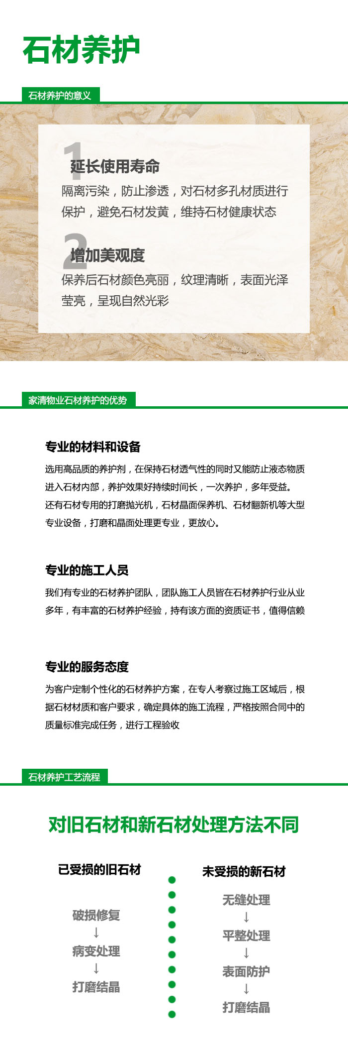 石材养护服务|石材大理石-武汉家清物业管理有限公司
