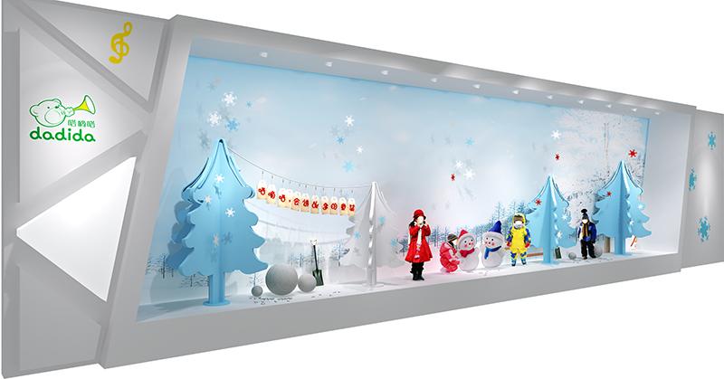 嗒嘀嗒 主題櫥窗設計|商業空間-廈門市嘉維世紀會展服務有限公司