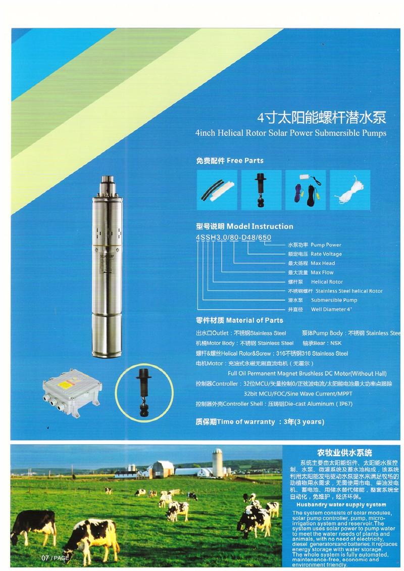 4寸太阳能螺杆潜水泵|太阳能水泵-广西南宁卓晟能新能源科技有限公司