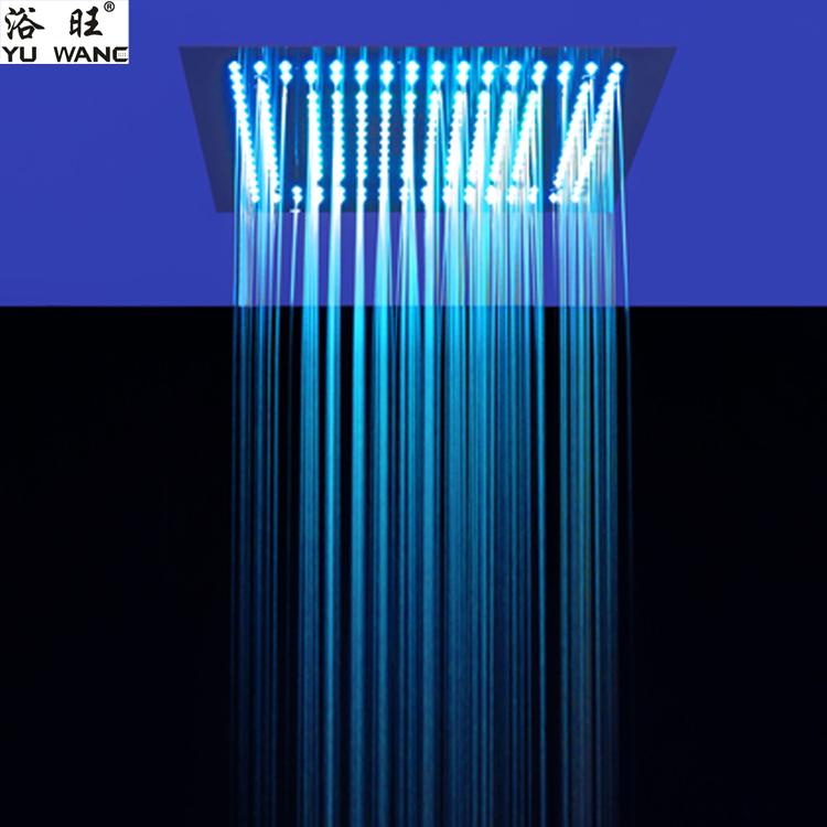 浴旺天雨流星雨400X400外贸酒店别墅方形入墙暗吸顶装温控LED情调淋浴|情调暗装淋浴-佛山乐浴卫浴科技有限公司
