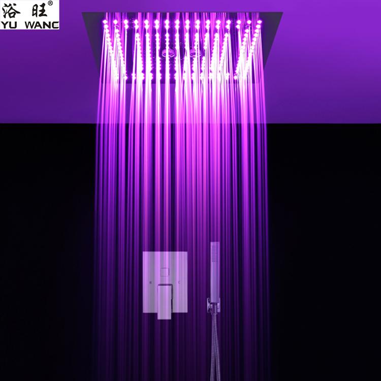 浴旺天雨梦幻森林400X400外贸酒店别墅方形入墙暗吸顶装温控LED情调淋浴|情调暗装淋浴-佛山乐浴卫浴科技有限公司