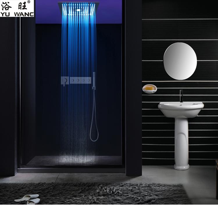 浴旺天雨雨幕年华400X400外贸酒店别墅方形入墙暗吸顶装温控LED情调淋浴|情调暗装淋浴-佛山乐浴卫浴科技有限公司