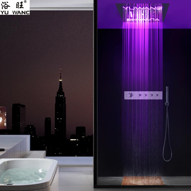 浴旺天雨浴旺logo500X500外贸酒店别墅方形入墙暗吸顶装温控LED情调淋浴|情调暗装淋浴-佛山乐浴卫浴科技有限公司