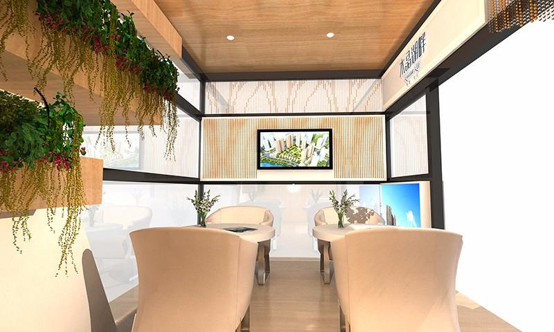 海滄阿羅海 水晶湖畔 商場展臺-廈門市嘉維世紀會展服務有限公司