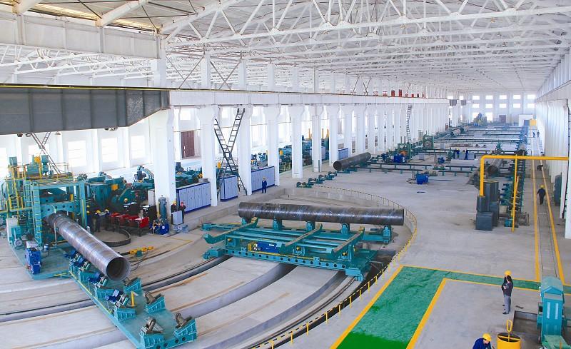 鑫宜達鋼管生產車間|螺旋鋼管系列-滄州市鑫宜達鋼管集團股份有限公司.