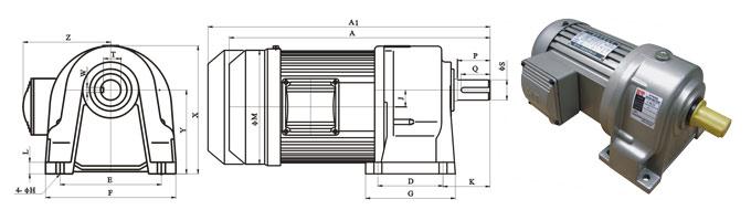 CH系列减速机结构图