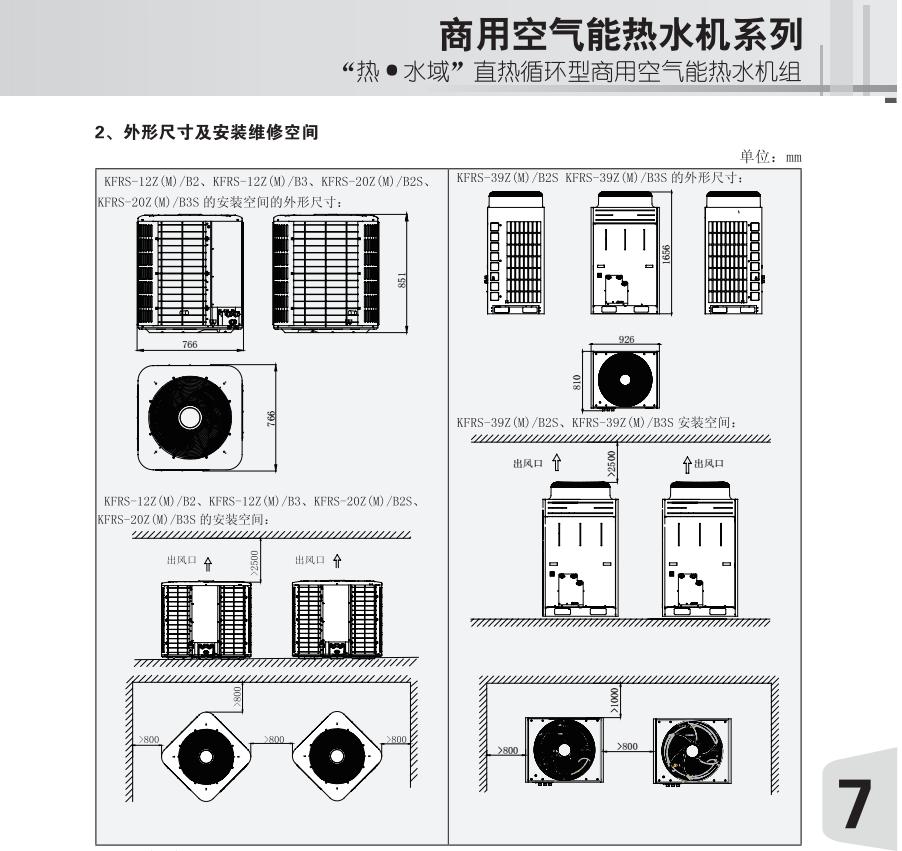 格力直熱循環型商用空氣能熱水機組
