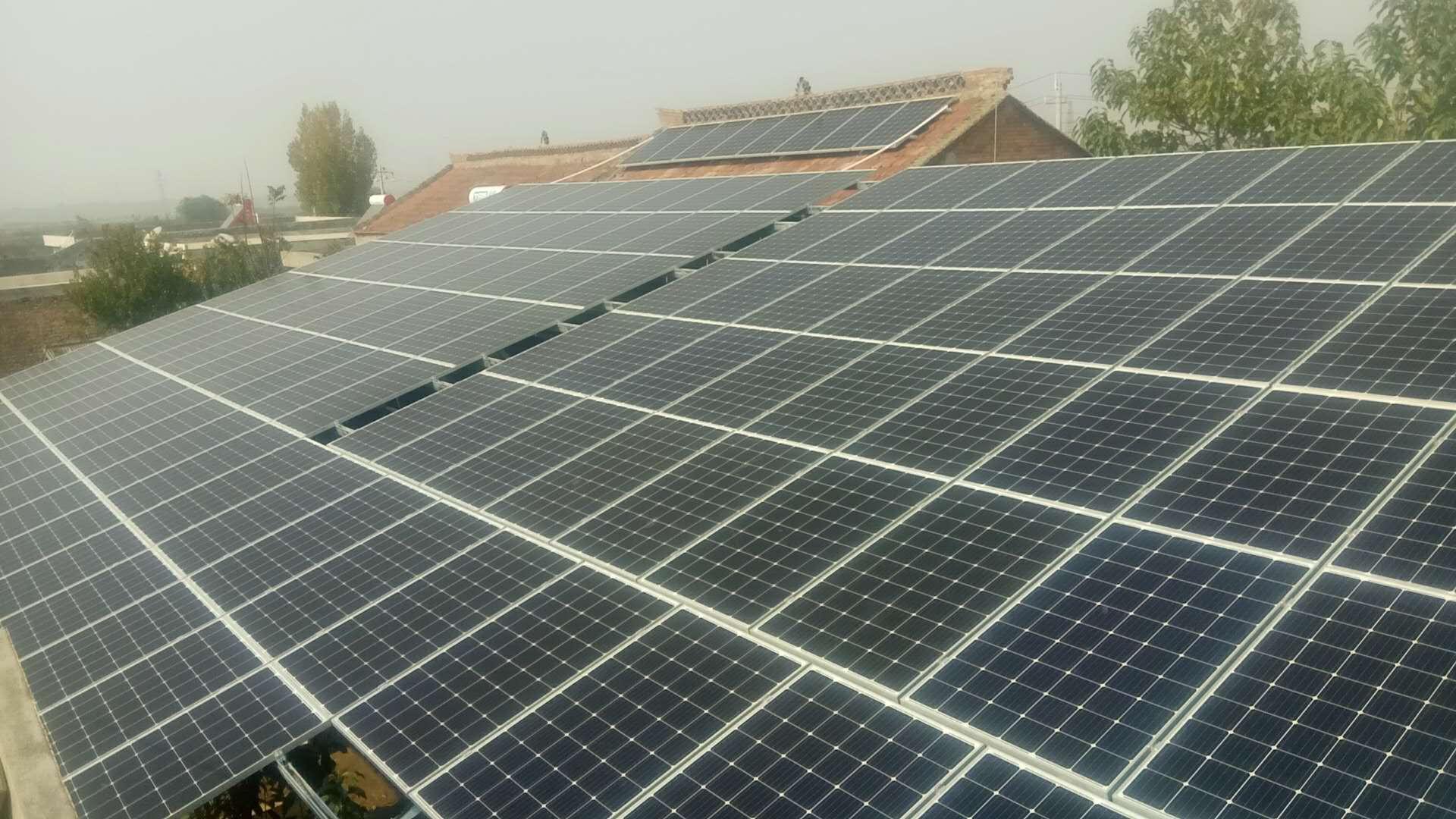 热烈祝贺潼关胡先生40kw成功并网|成功案例-陕西峰海能源科技有限公司
