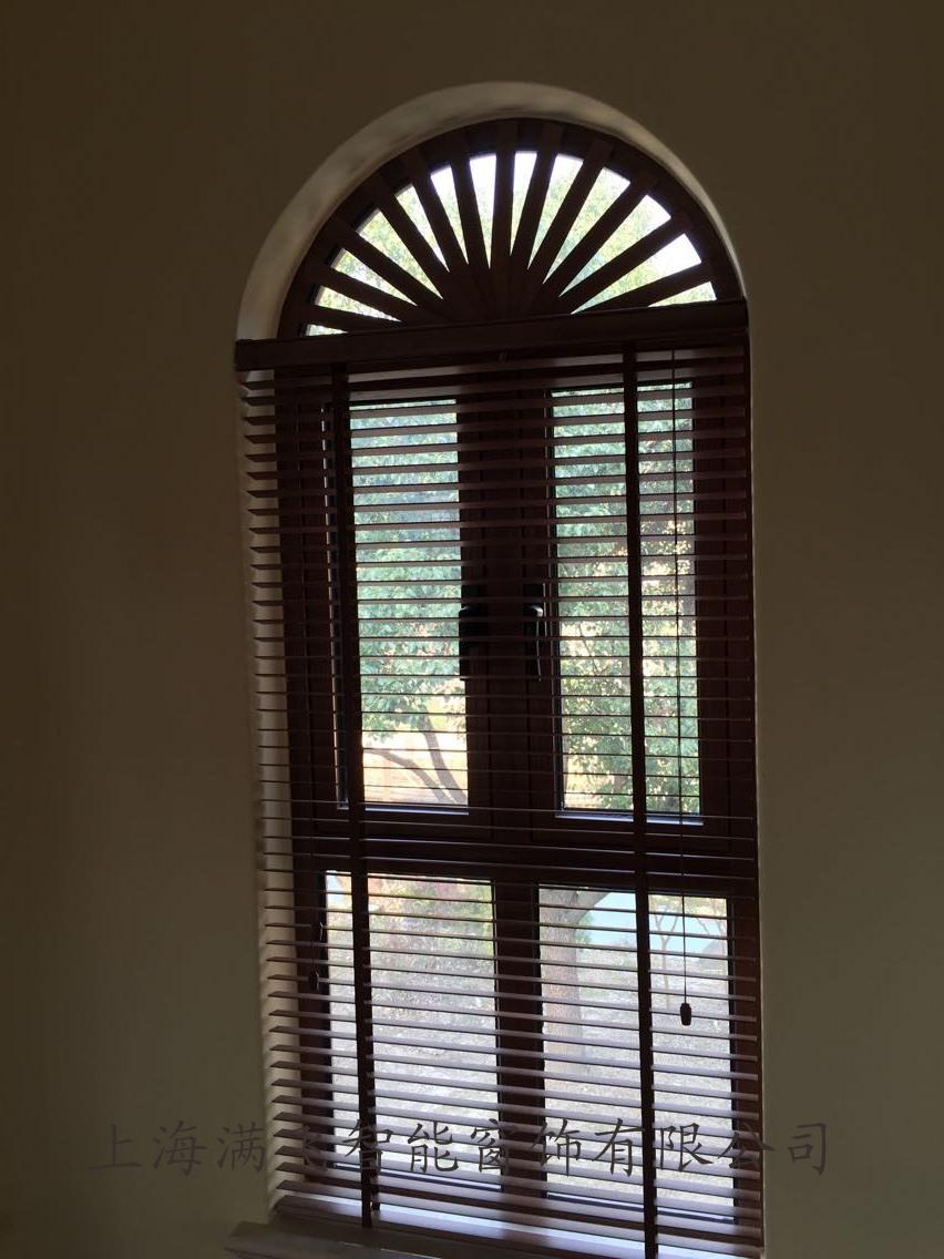 木质手动百叶帘|百叶帘系列-上海满飞智能窗饰有限公司