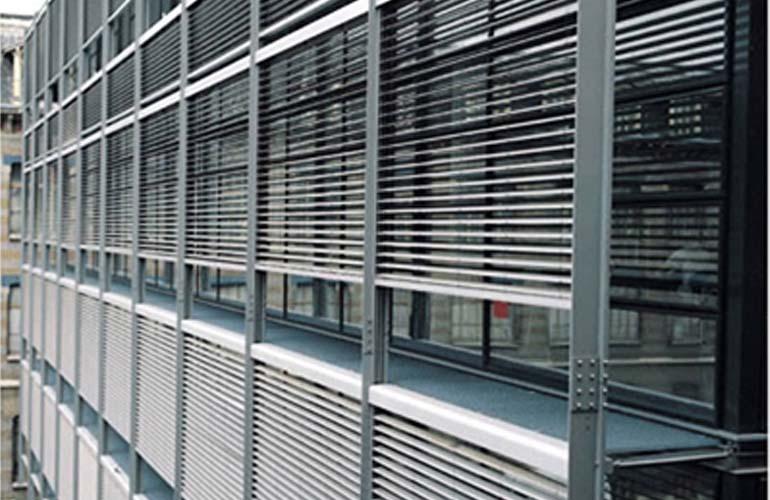 户外百叶帘|百叶帘系列-上海满飞智能窗饰有限公司