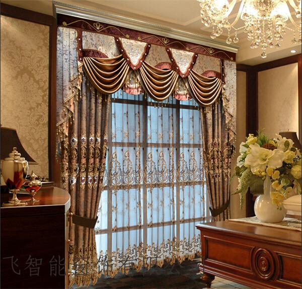 别墅布艺 开合帘系列-上海满飞智能窗饰有限公司