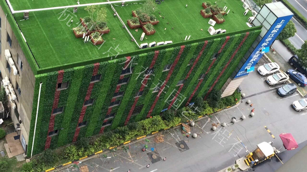 室外墙体仿真植物墙 仿真植物墙-杭州山点水花卉租赁园艺工程有限公司