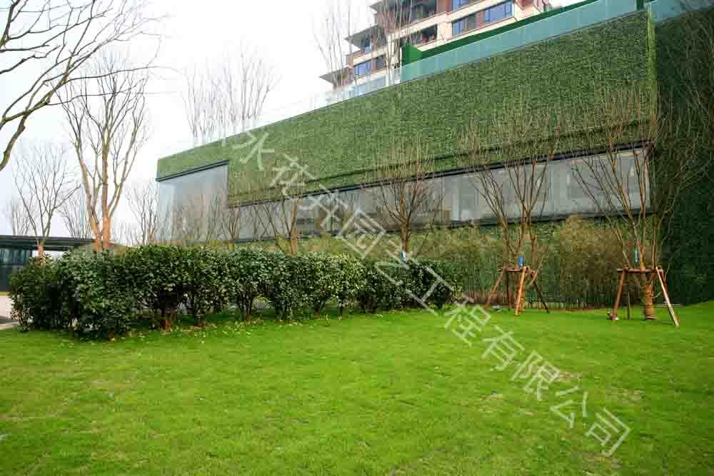 室外墙体绿化|仿真植物墙-杭州山点水花卉租赁园艺工程有限公司