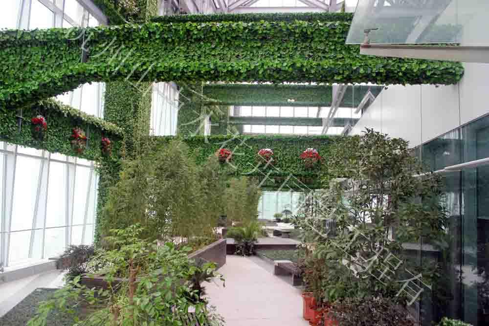 墙体绿化包柱|仿真植物墙-杭州山点水花卉租赁园艺工程有限公司