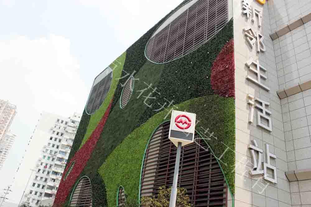 墙体绿化 仿真植物墙-杭州山点水花卉租赁园艺工程有限公司