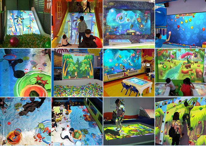 儿童投影互动-幻境沙海设备|投影互动系列-温州口袋屋游乐玩具有限公司