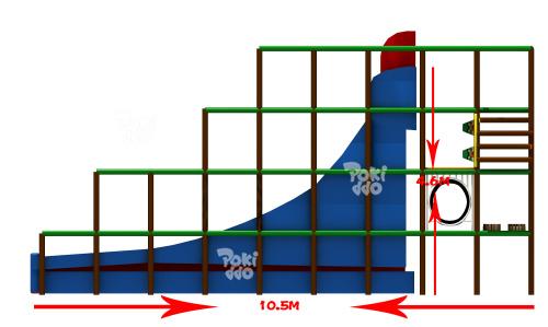 室内儿童魔鬼大滑梯-75平|魔鬼滑梯系列-温州口袋屋游乐玩具有限公司