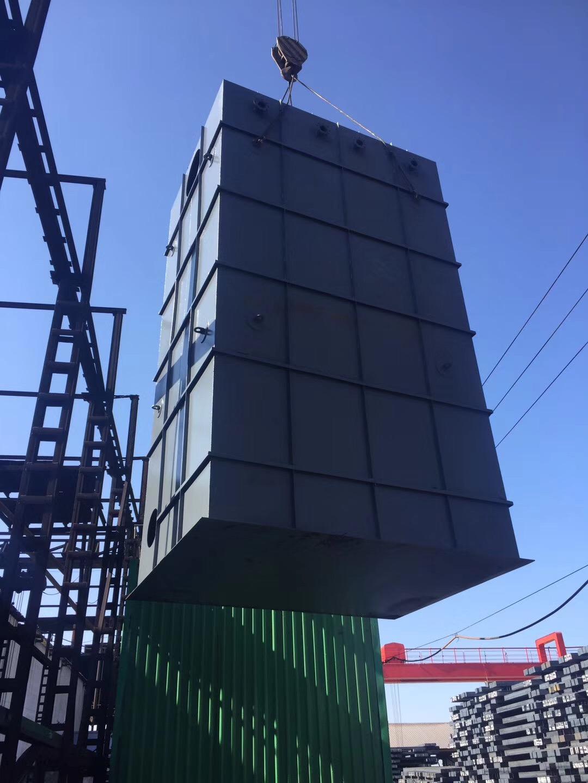 唐城实业有限公司-湿式电除尘安装完毕|成功案例-唐山圣洁环保科技有限公司