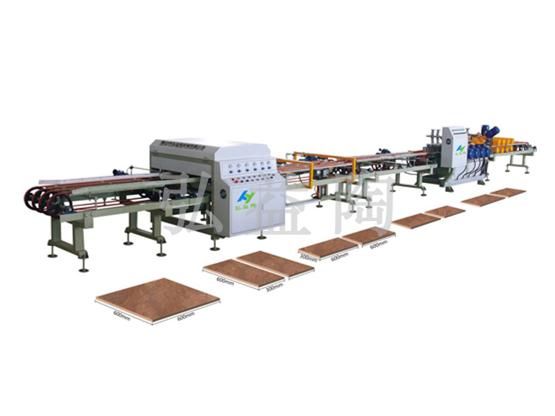 HYT-800型全自动干式单刀瓷砖切割磨边生产线|瓷砖切割机-佛山市弘益陶机械有限公司
