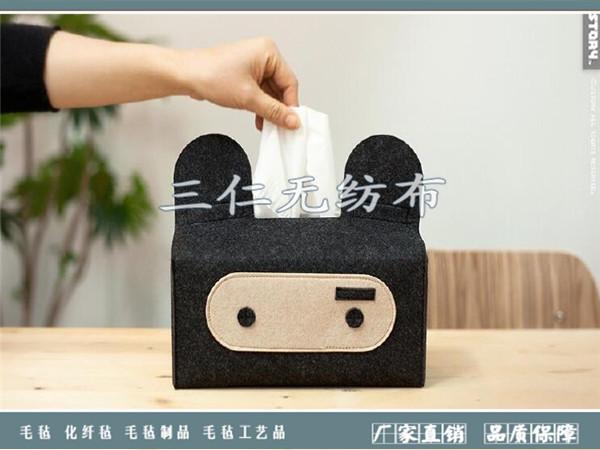 羊毛毡纸巾盒|羊毛毡工艺品-河北菲娱国际娱乐平台app下载纺布有限公司