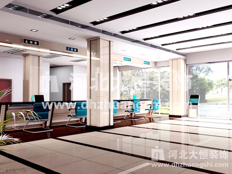 卢龙县装投标交易中心装修工程|公共空间装修案例-河北省大恒装饰工程股份有限公司