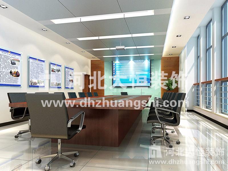 卢龙县公安局办公楼装修工程|公共空间装修案例-河北省大恒装饰工程股份有限公司