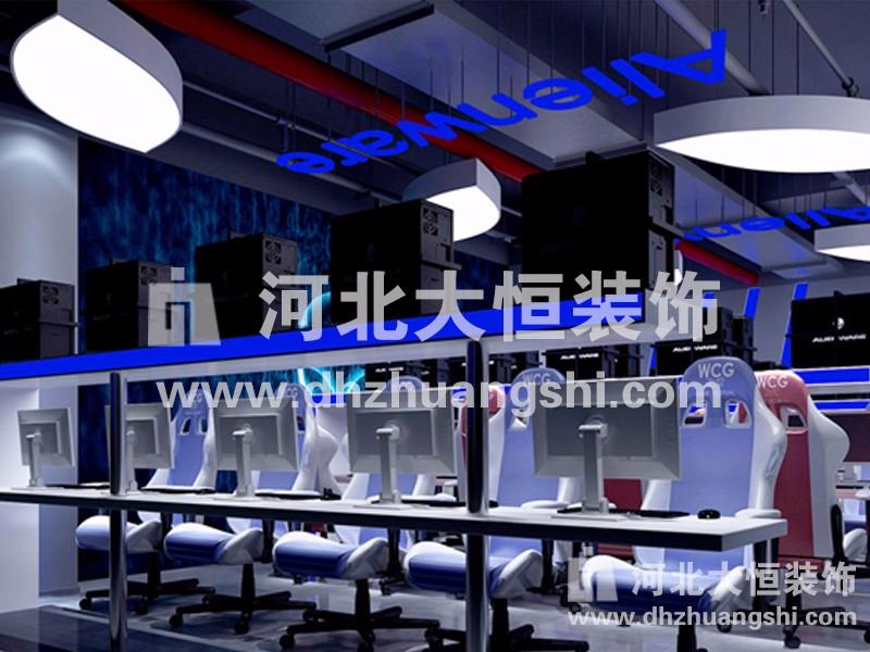 自由港网咖装修工程|公共空间装修案例-河北省大恒装饰工程股份有限公司