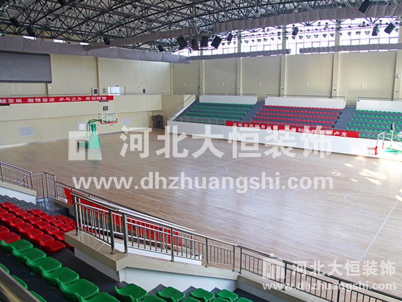 卢龙县体育馆装修工程|公共空间装修案例-河北省大恒装饰工程股份有限公司