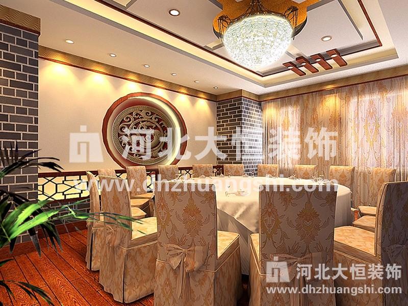 卢龙县政府餐厅装修工程|酒店餐饮工程案例-河北省大恒装饰工程股份有限公司
