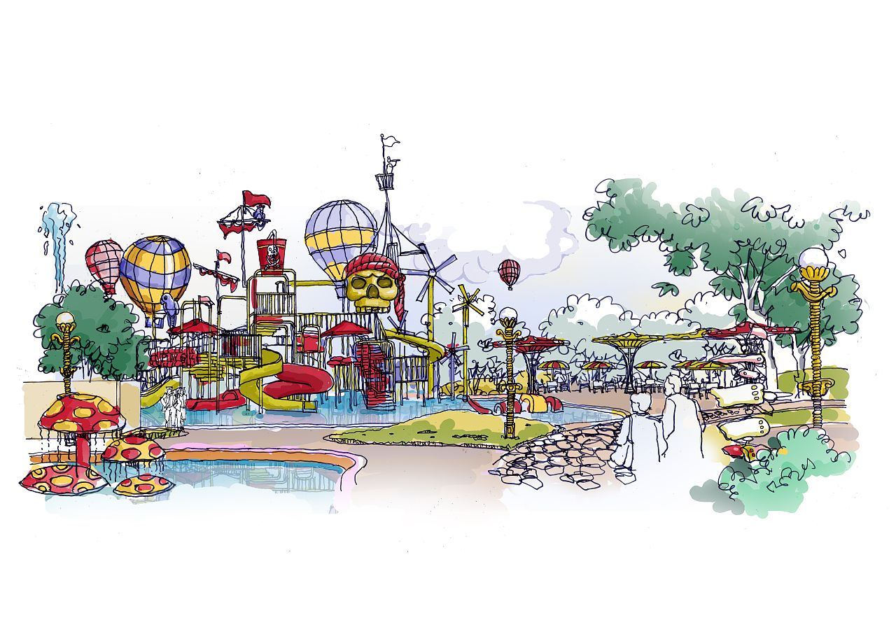 water theme park slide manufacturer