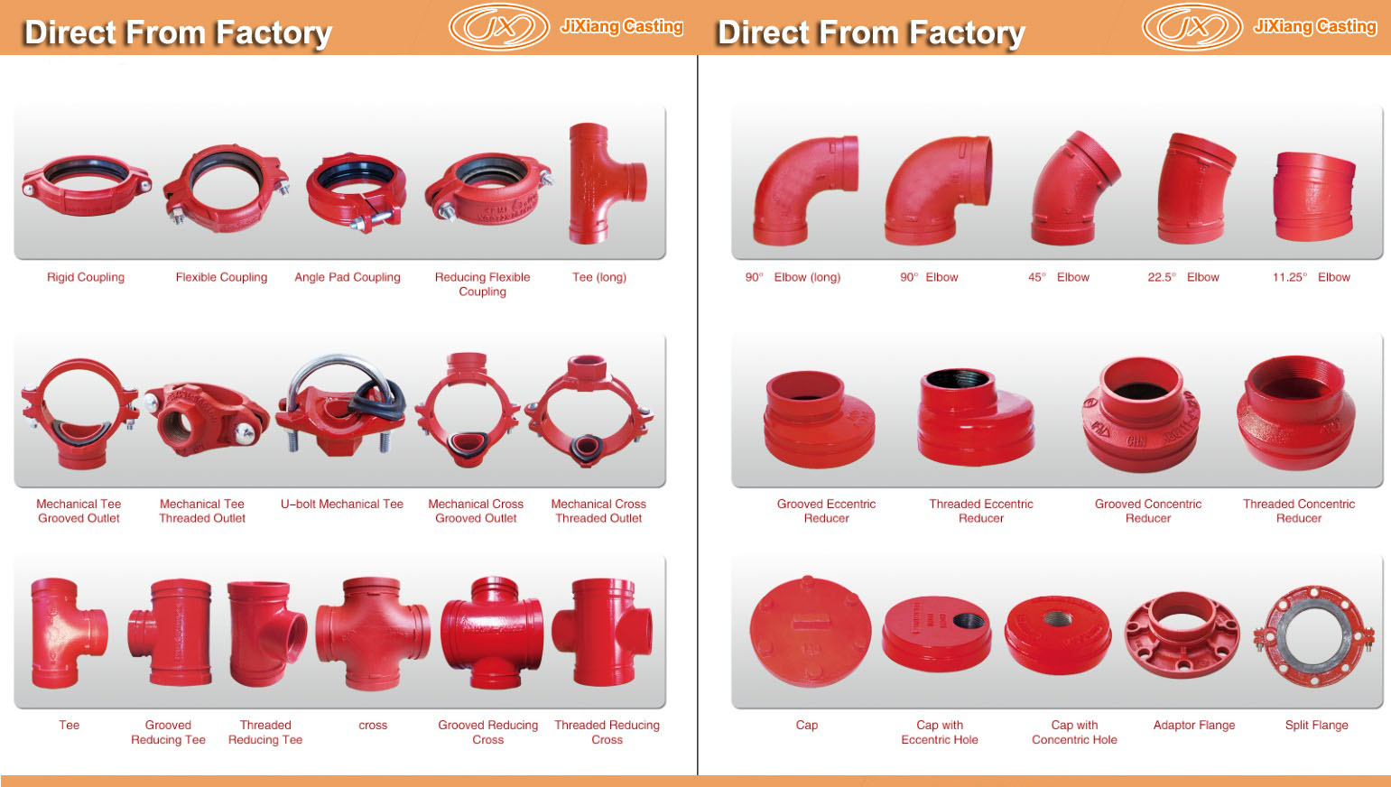 Grooved Coupling pipe fittings |Grooved Coupling-潍坊昌乐吉祥铸造有限公司