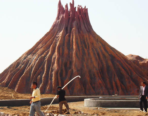 Artificial volcano/amusement park decoration|Artificial Volcano-广州星江源游乐设备有限公司