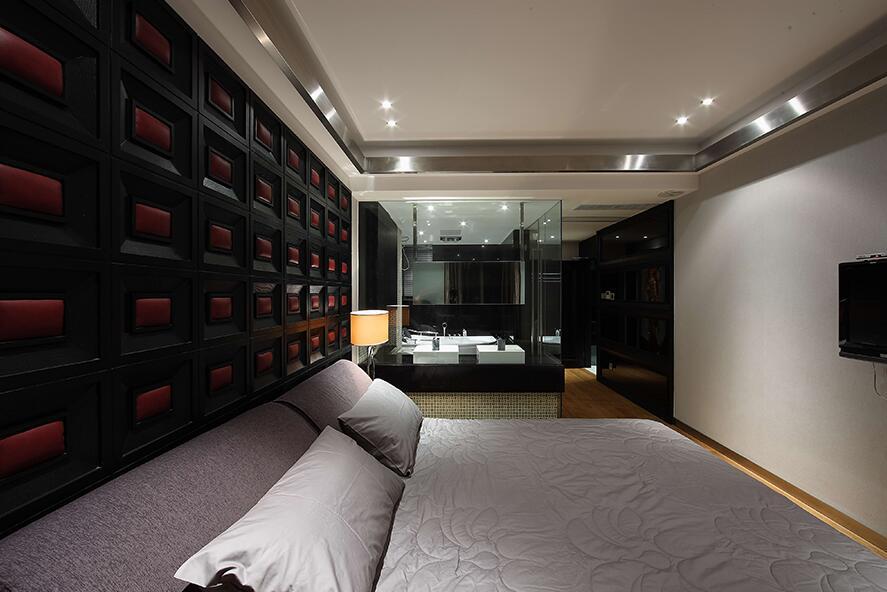 后现代风格主卧室效果图