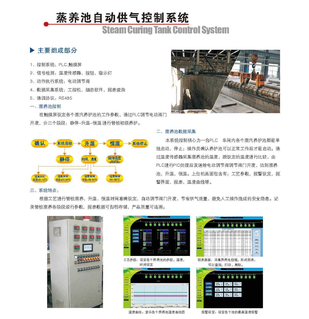蒸养池自动供气控制系统