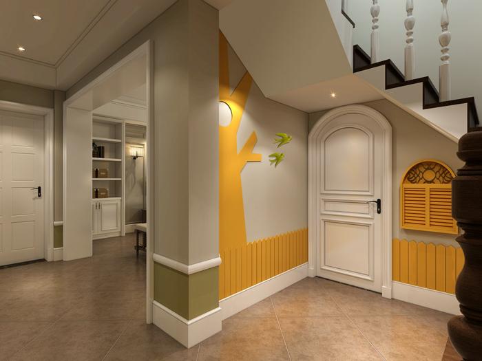 盛世御瓏灣  歐式風格裝修案例|裝修案例-上海煥心建筑裝潢有限公司