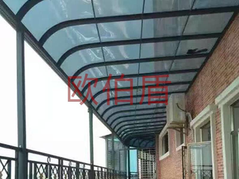 别墅配套案例——雨棚|案例展示中心-南京欧伯盾门窗有限公司