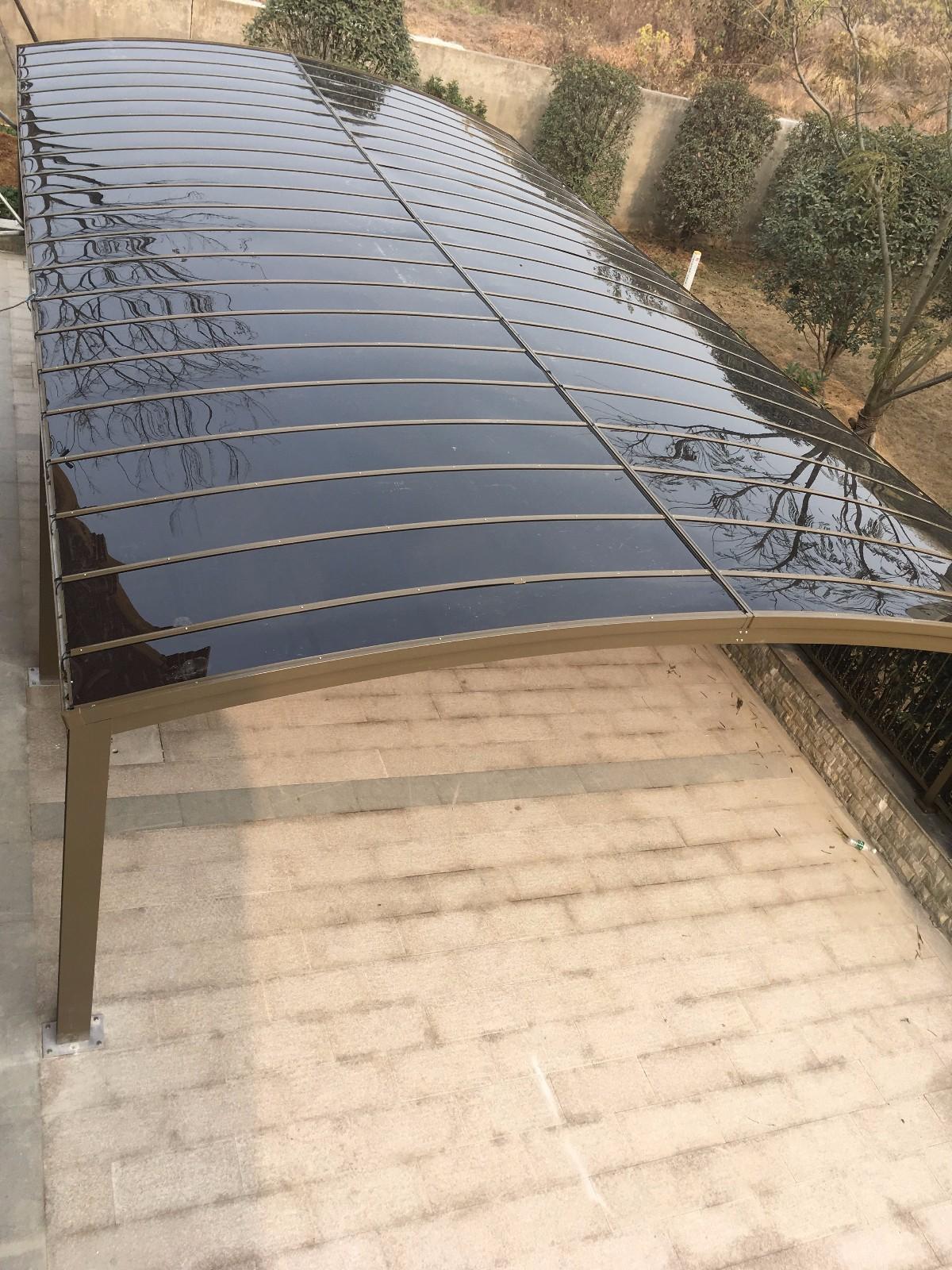 别墅配套案例——护栏雨棚|案例展示中心-南京欧伯盾门窗有限公司