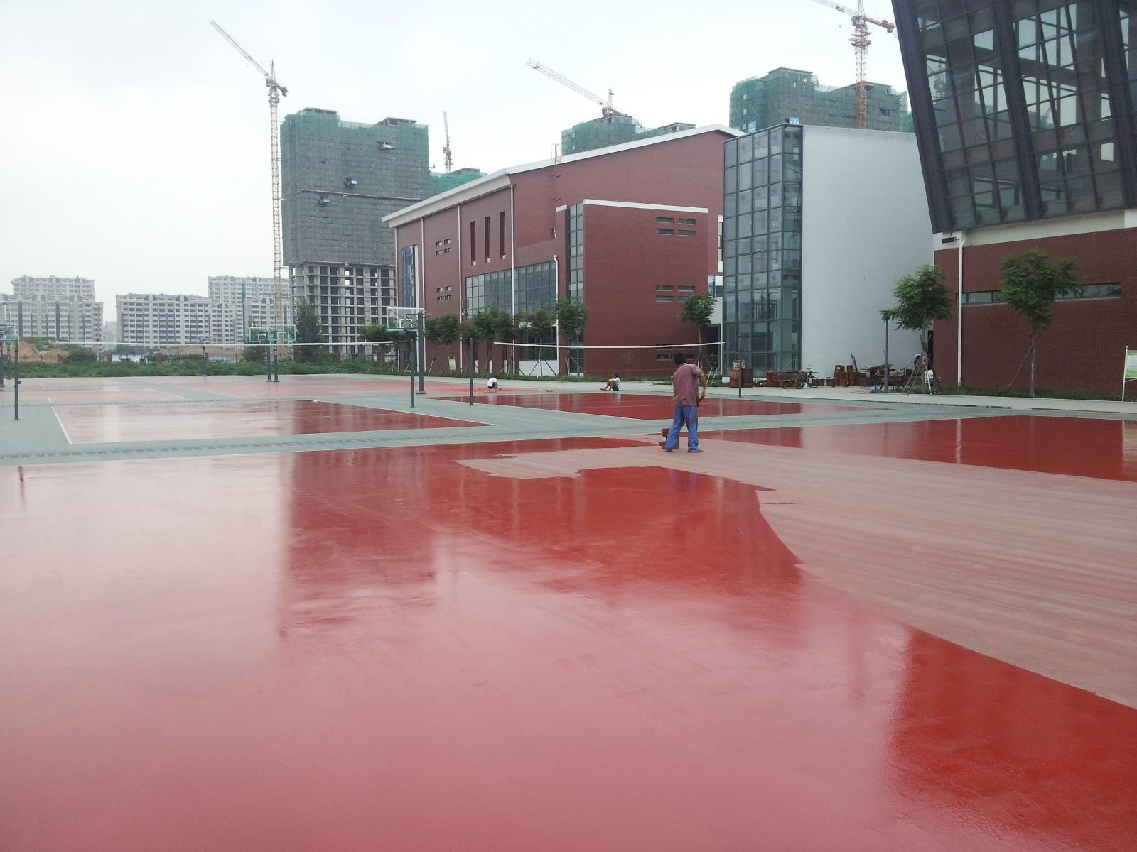 硅PU球场地坪|硅PU运动场地坪-武汉兴尚厦地坪工程有限公司
