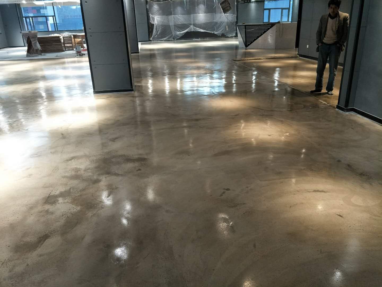 华中智谷高端办公室复古地坪施工完工|兴尚厦工程实例-武汉兴尚厦地坪工程有限公司