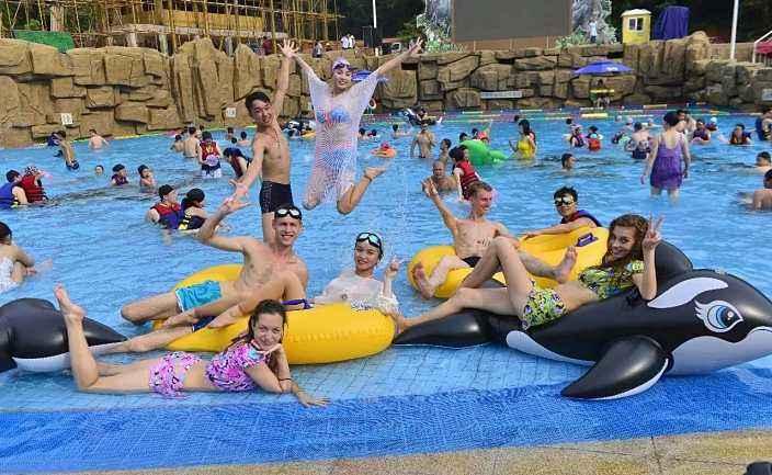 Wave pool|water park|aqua park|Pneumatic Wave Pool-广州星江源游乐设备有限公司